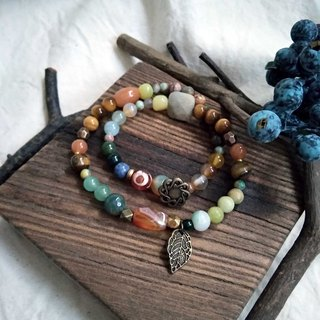Peacock Agate Eye Eye Agate Dongyu Jade Tiger Eye Stone Indian Agate Lemon Jade Labrador Bracelet