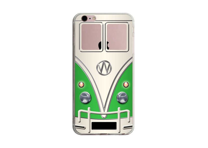 Custom green nostalgic minibus transparent Samsung S5 S6 S7 note4 note5 iPhone 5 5s 6 6s 6 plus 7 7 plus ASUS HTC m9 Sony LG g4 g5 v10 phone shell mobile phone sets phone shell phonecase