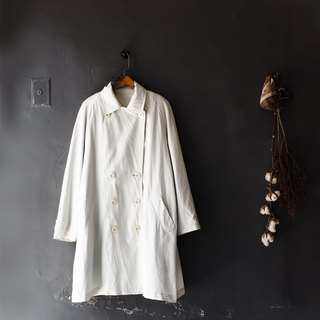 Aomori gray colorless literary girl antique thin material windbreaker jacket trench_coat dustcoat
