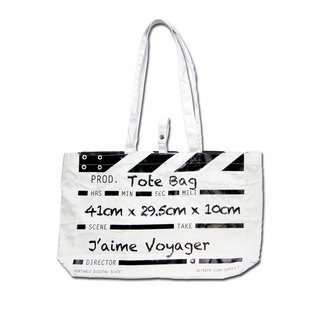 Director Clap Tote Bag - White