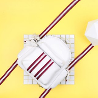 White Color Soft Synthetic Leather Cute Mini Backpack