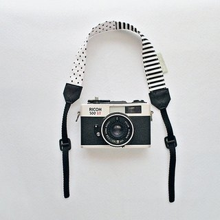 hairmo. Black and white mosaic double bridge camera wrist band (generally 30)