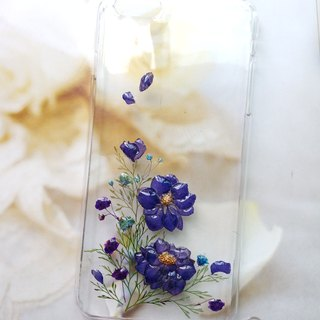 Pressed flowers phone case, Fit for iPhone 6 plus, Embossed flowers