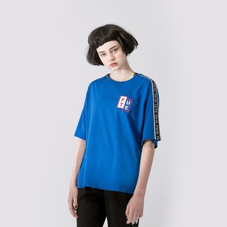 UNISEX RIBBON SLEEVE T SHIRT