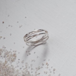 Hand-forged Knocking Rings - Sterling Silver