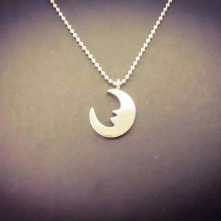 Here moon (moon) moon silver necklace handmade / clavicle chain / gift / anniversary / Valentine's Day