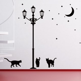 Smart Design Creative wall stickers ◆ incognito street and cats (8 colors)