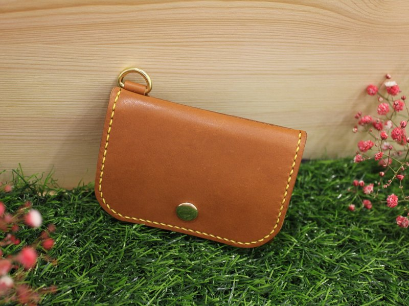 [Mini5] Box type open coin purse / rear card (brown)