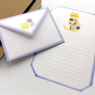 Letter writing set/stitch zoo/Cat
