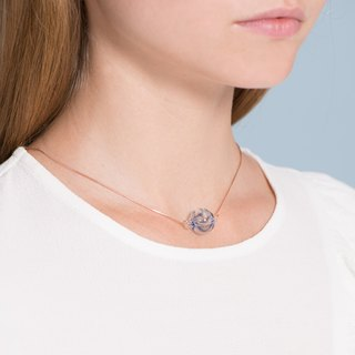 Ocean drop tiny necklace (blue)