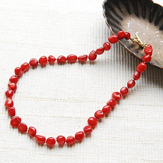 Red coral necklace 40 cm