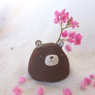ceramic vase mini sculpture bear