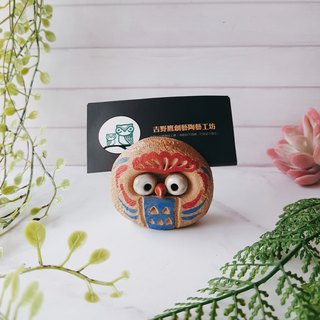 D-19 Totem Eagle Card Holder│Yoshino Hawk x Owl Pottery Decoration Pure Handmade Desk, Desk Stationery Healing Small Things