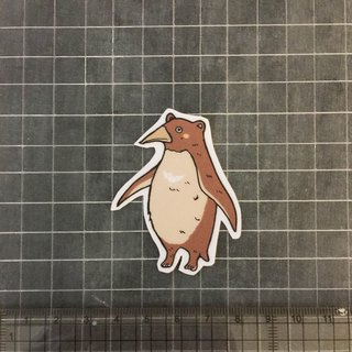 Penguin bear sticker