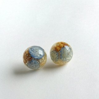 ♪ Earrings, which was confined dried flowers (lavender blue) lavender blue · earrings