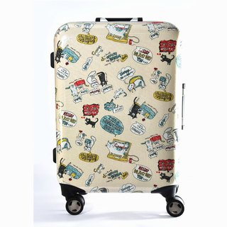 Fantasy cat - hand-printed fashion aluminum frame 20 吋 suitcase / suitcase