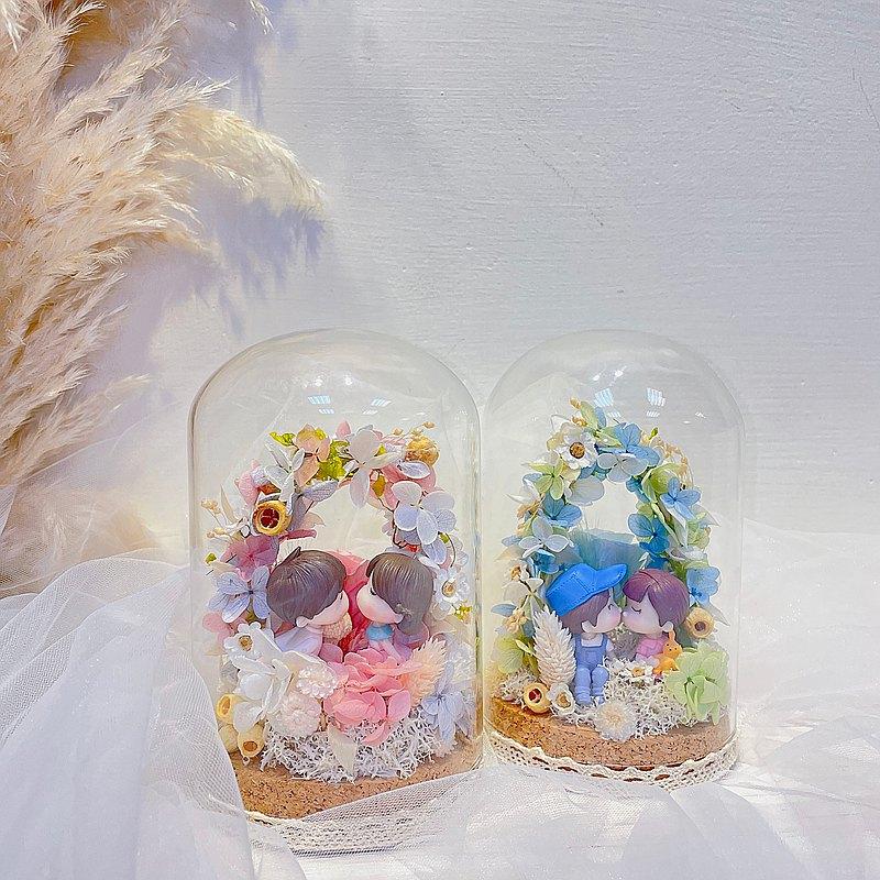 FengFlower【小小花園玻璃罩】畢業花禮/情人節/生日花禮/母親節