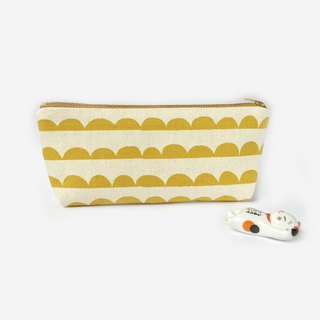 筆袋/化妝袋 Canvas Zipper Pouch - Scandinavian Half Moon Minimally Cute