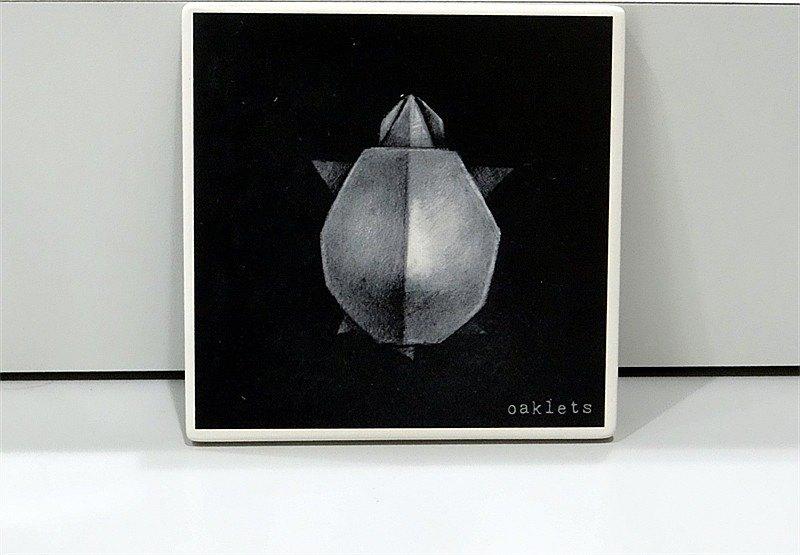 Oaklets 素描系列 方形杯墊2