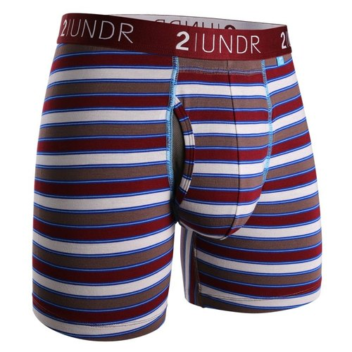 2UNDR SWING SHIFT modal pocket underwear [Burgundy Stripes] (6 inches) M number