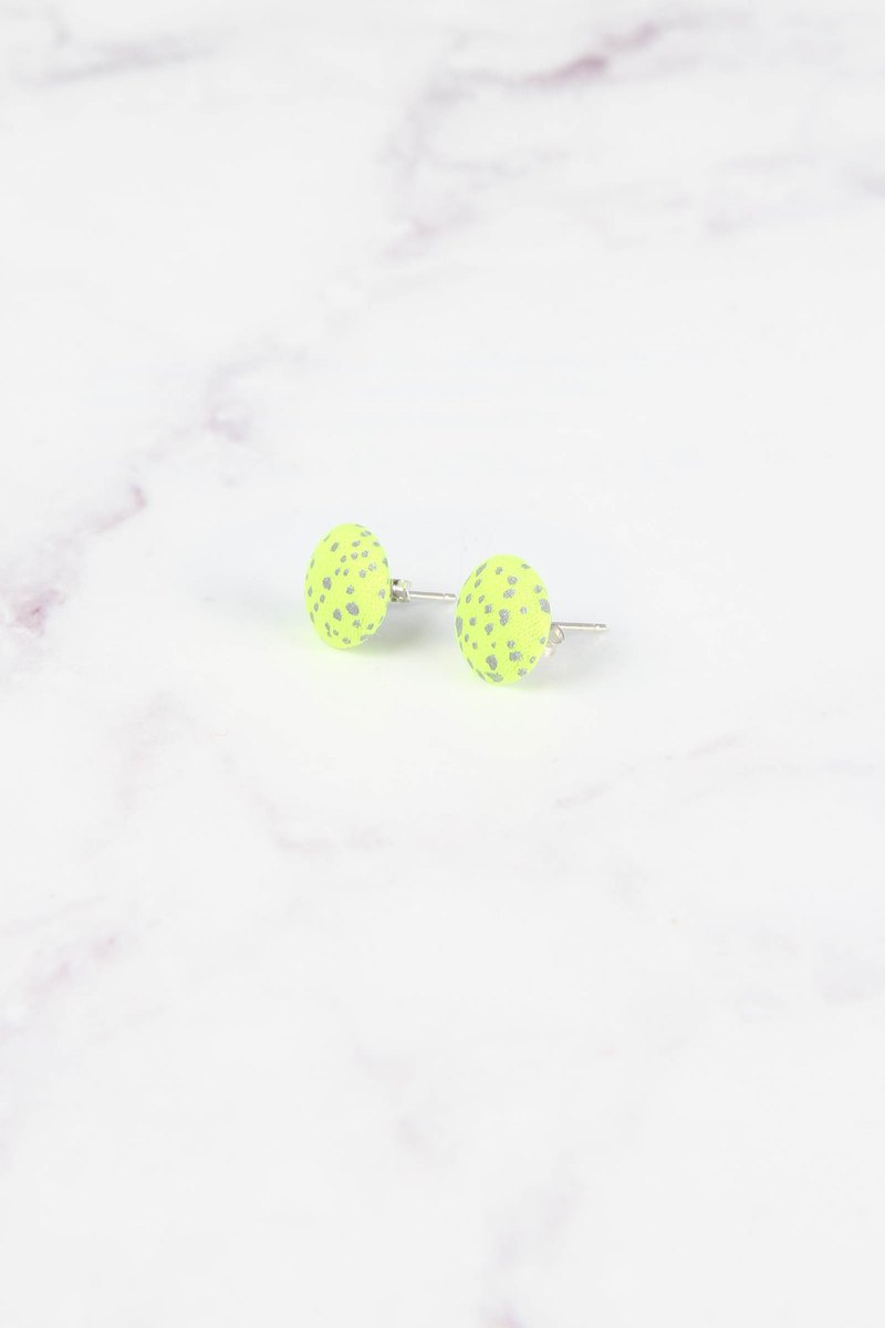 Cosmic Series Reflective Earrings - Yellow Star