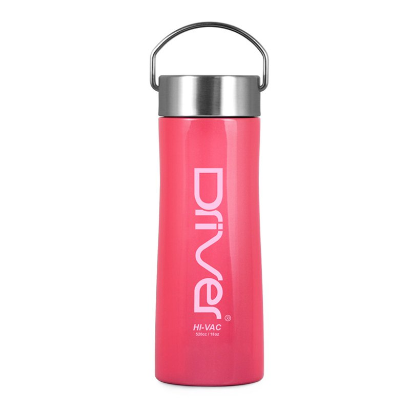 Driver 316 stainless steel new long-lasting vacuum ice cup 520ml-pink