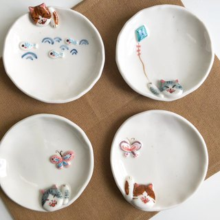 Couple cat Dessert Set