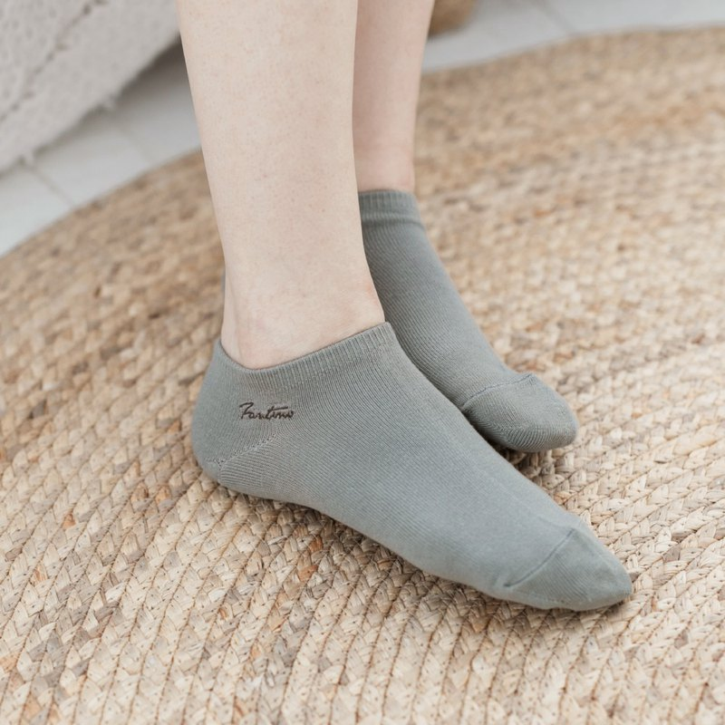 Collagen antibacterial deodorant socks (monochrome) lunar gray