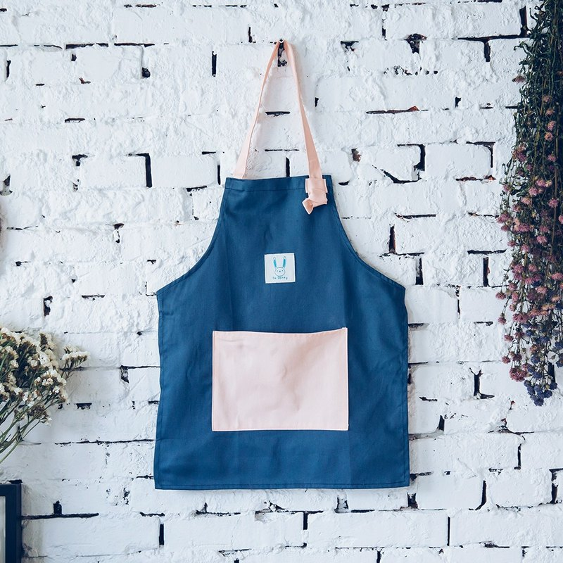 Parents hit the color pocket work apron - blue child size