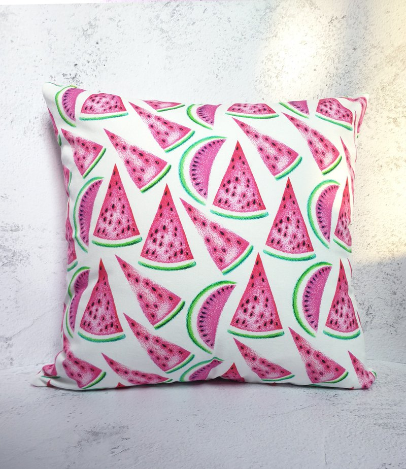 Watermelon print throw pillow