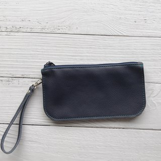 Classic blue three-layer bag