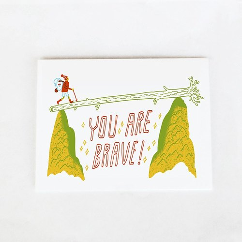 Forest & Waves Universal Card / You are very brave