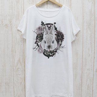 ronronRABIT One piece Tee Flower Frame (White) / RPT 046 - WH