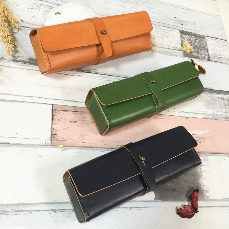 *Wen Qing Pencil case small storage bag stationery bag*Leather hand for large-capacity three-dimensional cut design