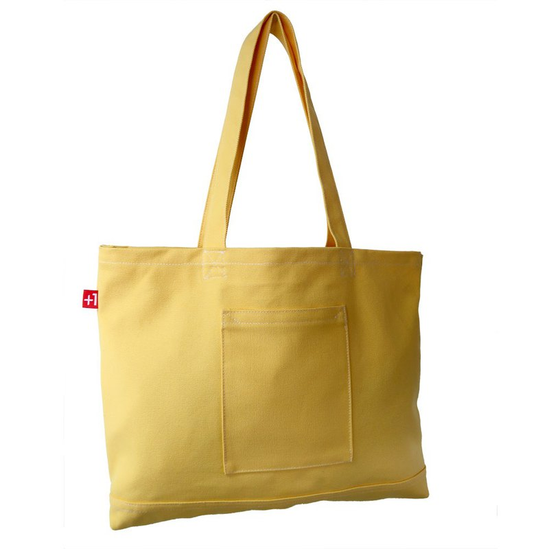 Plus 1 Canvas 4-Pocket Totebag