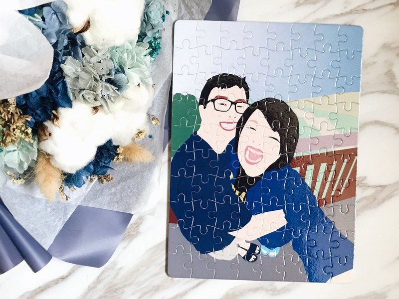 Customized Portrait Painting Puzzle Q Edition