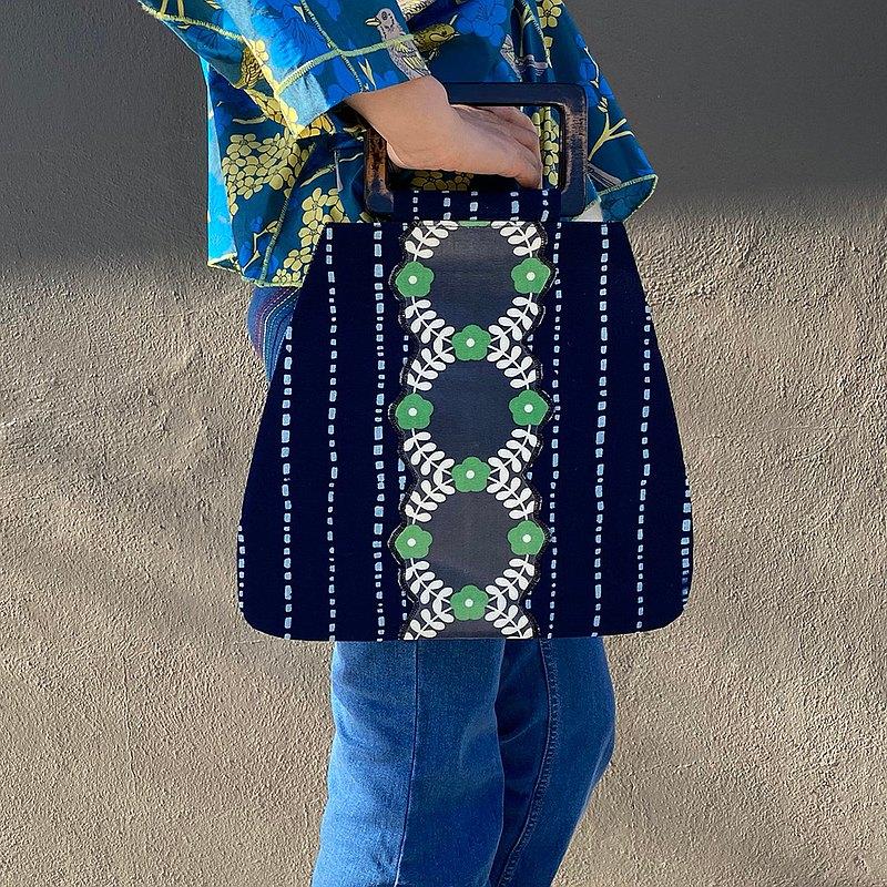 藍印方把手包