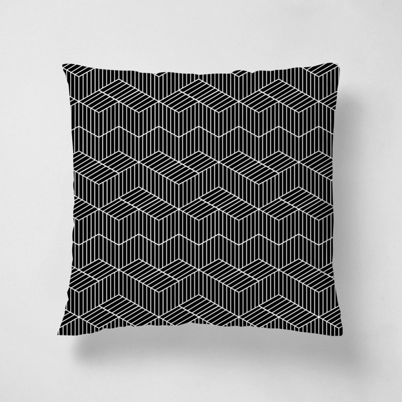 Black and white geometry | 40*40 short velvet pillow
