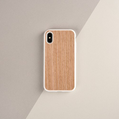 SolidSuit wood grain shatter-resistant mobile phone case / walnut white - for iPhone series