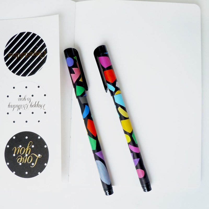 7321-BBH 0.5 Black Ball Pen (1 in) - Colorful Mosaic, 73D72788