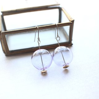 Purple bubbles-Handmade earrings