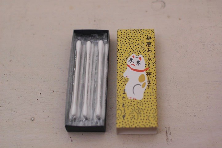 Classiky x Cat Match Box Cotton Swab【Drinking Place (20502-2)】