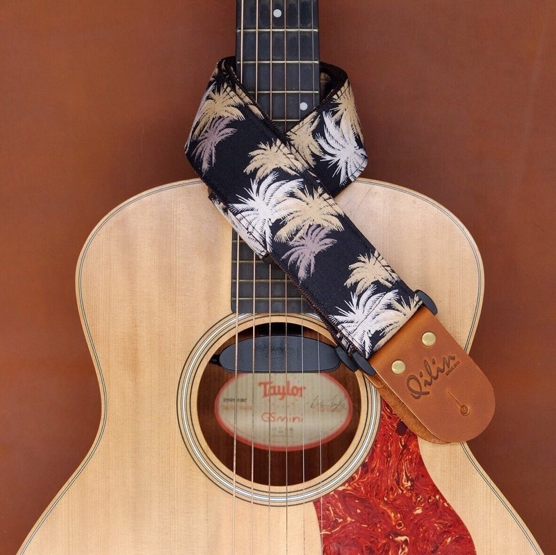 Black Hawaii Guitar Strap