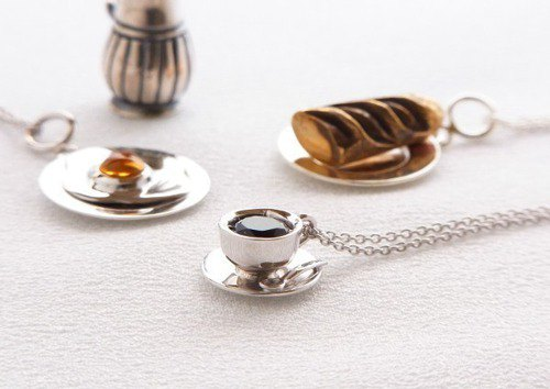 Coffee cup pendant