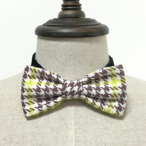 Brushed Houndstooth pattern hand-tie Bow Tie shooting performance props