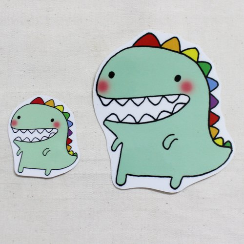 Waterproof Sticker (Large)_Small Dinosaur 01