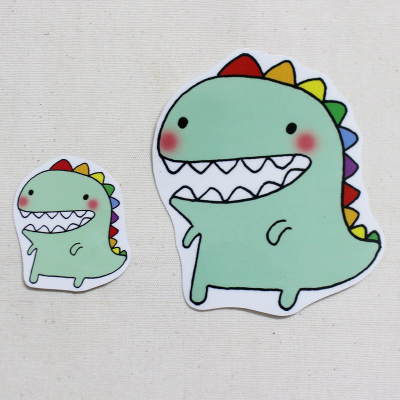 Waterproof sticker (large)_Little Dinosaur 01