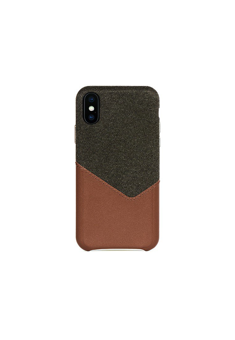 Irish Layered iPhone X/Xs Fabric Mixed Leather Snap-On Case