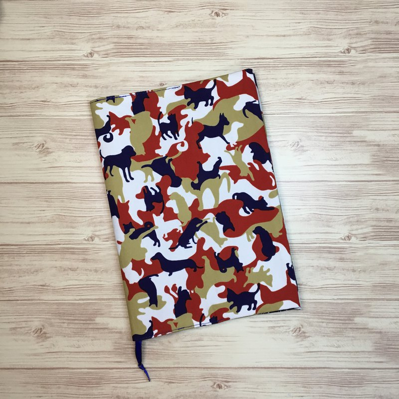 Red camouflage animal A5 hand book cloth book / cloth book cover