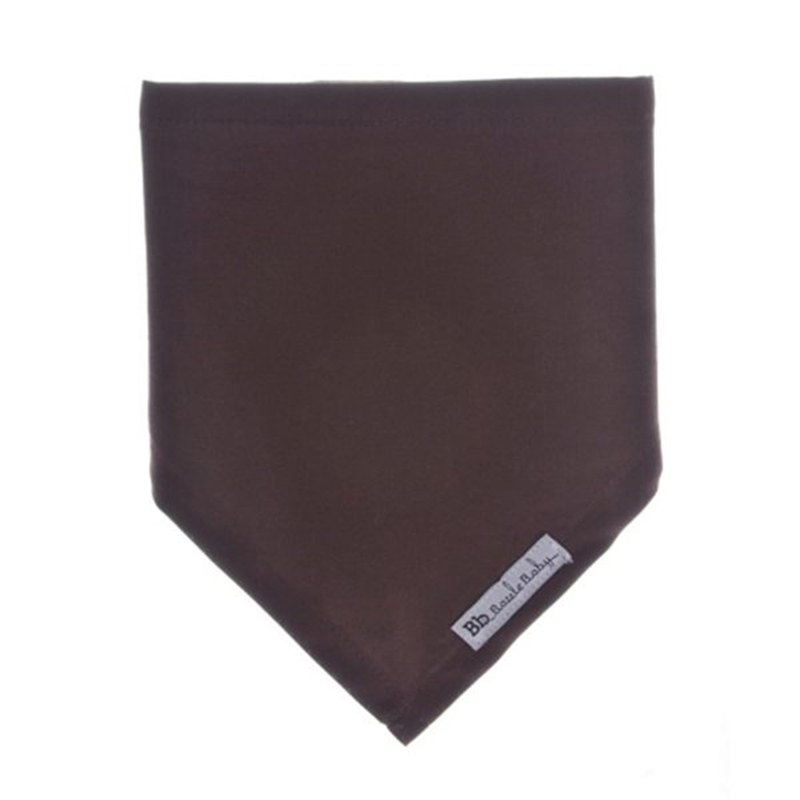 Cotton fashion style super cute scarf bibs Chocolate